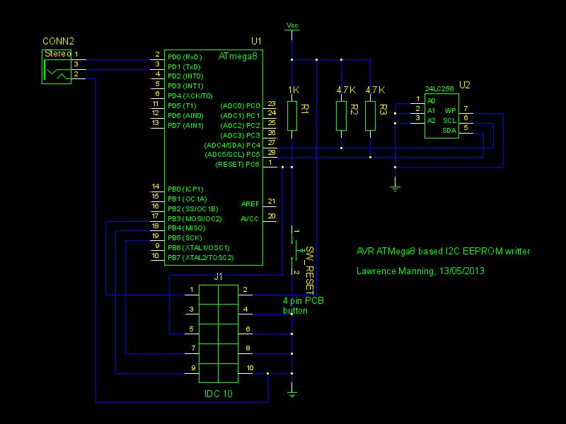 An I2C EEPROM programmer with an ATMega8 – Aslak's blog